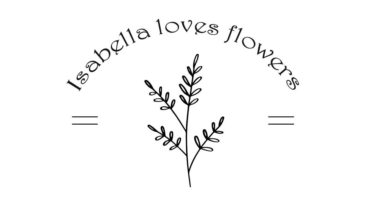 Isabella loves flowers